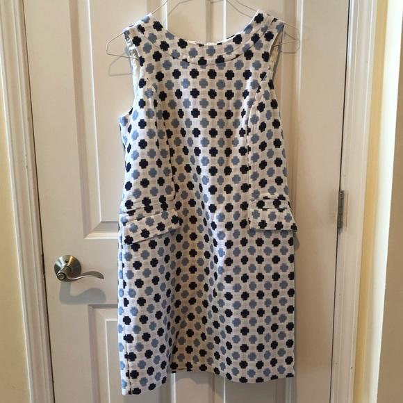Boden Dresses & Skirts - White and Blue Boden Dress